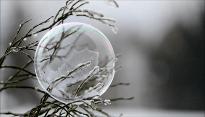 How A Bubble Turning Into Ice