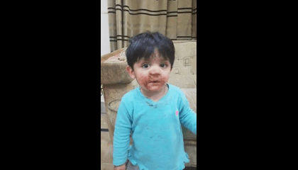 Cute Chocolate Eater
