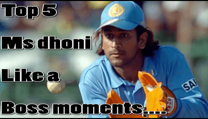 TOP 5 MS DHONI MOMENTS