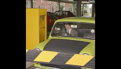 No Parking No Problem!  Mr.Bean