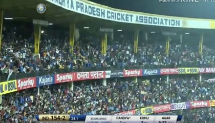 Hardik Pandya Fire On Australia Spinner Match Winning Batting!