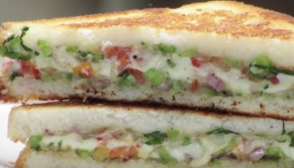 Cheesy Veg Sandwich Recipe